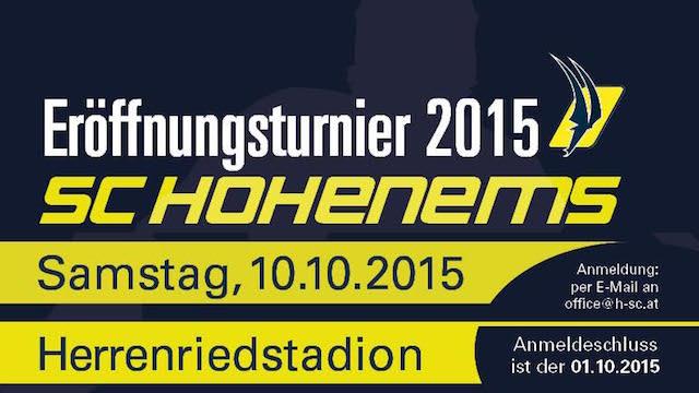 """Eröffnungsturnier """"Ems Cup"""" 2015"""